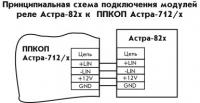 Астра-822 схема подключения
